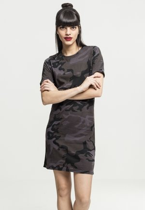 LADIES CAMO TEE DRESS - Jersey dress - black