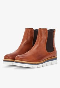 Bianco - CLEATED  - Platform ankle boots - cognac - 2