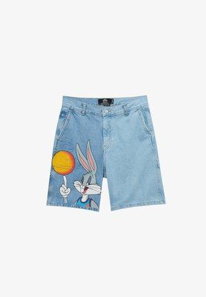 SPACE JAM BUGS BUNNY - Denim shorts - blue