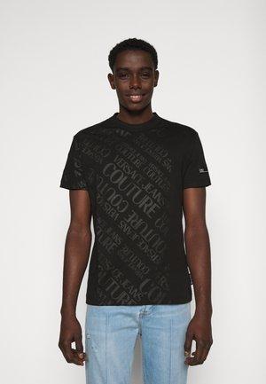 SLIM TRIS LOGO - T-shirt con stampa - black