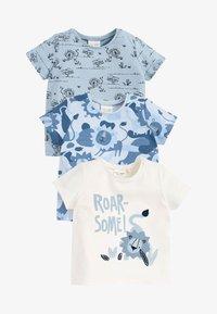Next - 3 PACK - Print T-shirt - blue - 0