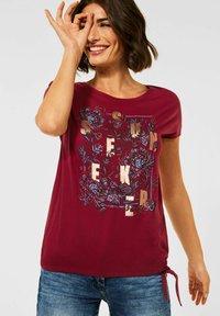 Cecil - MIT SCHLEIFEN DETAIL - Print T-shirt - braun - 0
