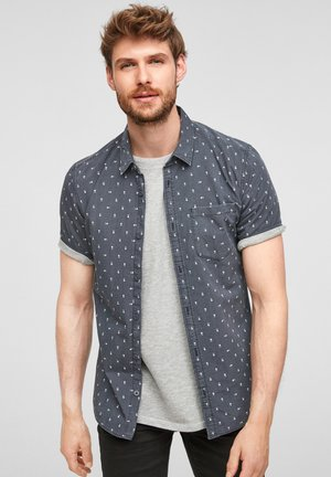 EXTRA SLIM - Shirt - grey aop