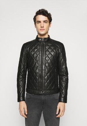 MARTY  - Leather jacket - black