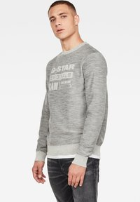 G-Star - PREMIUM CORE LOGO ROUND LONG SLEEVE - Trui - cool grey - 2