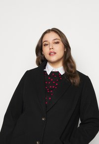 Dorothy Perkins Curve - MINIMAL SHAWL COLLAR COAT - Manteau classique - black - 3