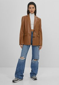 Bershka - Faux leather jacket - brown - 1