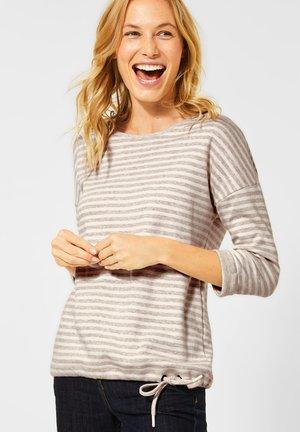 MIT STREIFEN - Long sleeved top - beige