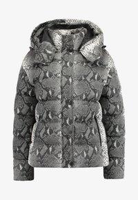 Urban Classics - LADIES HOODED PUFFER JACKET - Winter jacket - grey - 4