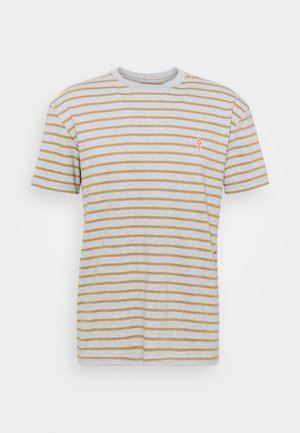 STRIPED - Printtipaita - grey melange