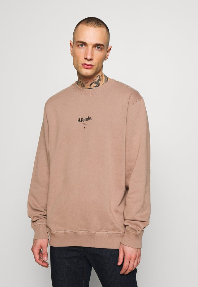 DISTORTED CREW NECK - Bluza - sand