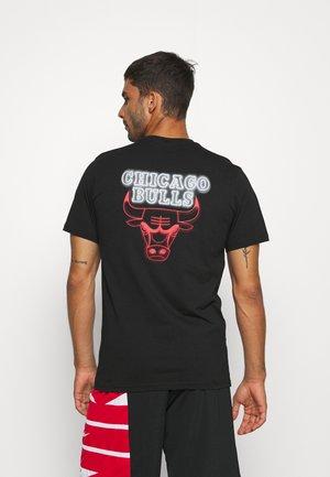 NBA CHICAGO BULLS NEON TEE - Club wear - black