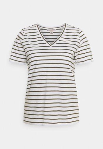 T-shirts med print - white / khaki