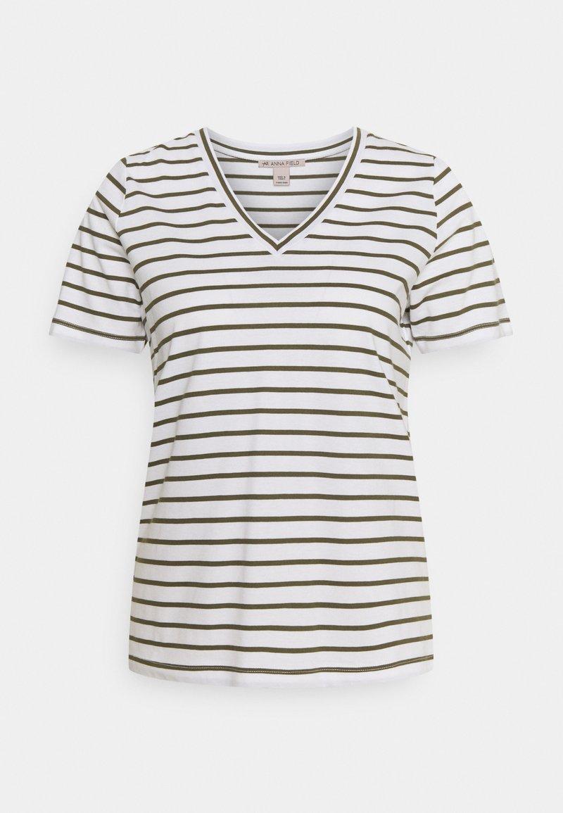 Anna Field - Print T-shirt - white / khaki