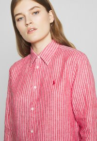 Polo Ralph Lauren - RELAXED LONG SLEEVE - Button-down blouse - red/white - 3
