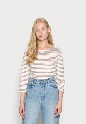 STRIPED - T-shirt à manches longues - offwhite clay