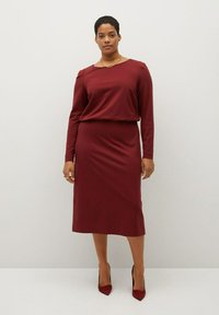 Violeta by Mango - SOPHIE - Jersey dress - granatrot - 1