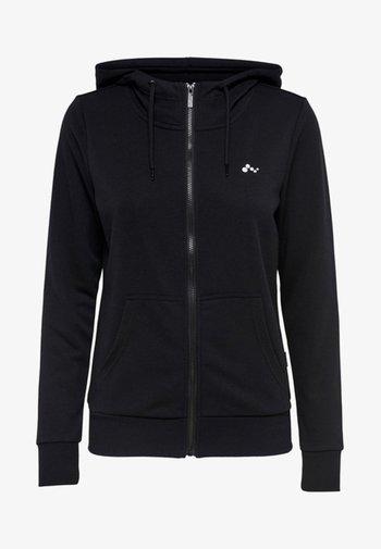 ONPELINA ZIP HOOD - Zip-up sweatshirt - black