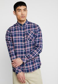 Knowledge Cotton Apparel - CHECKED BUTTON DOWN - Shirt - dark denim - 0