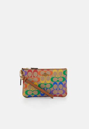 RAINBOW COATED SIGNATURE SMALL WRISTLET - Clutch - tan/multi-coloured