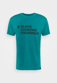 Black Diamond - STACKED LOGO TEE - T-shirts med print - teal - 4