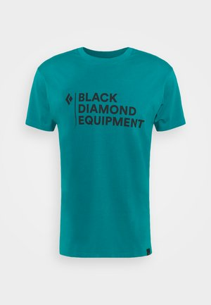 STACKED LOGO TEE - T-shirts med print - teal