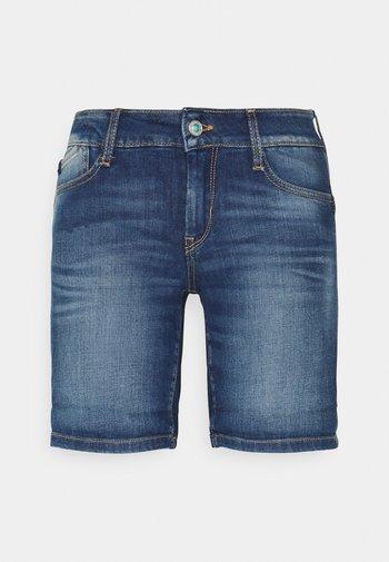 PAOLA - Denim shorts - blue