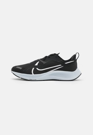 AIR ZM PEGASUS 37 SHIELD - Neutral running shoes - black/white/pure platinum/reflect silver/metallic silver