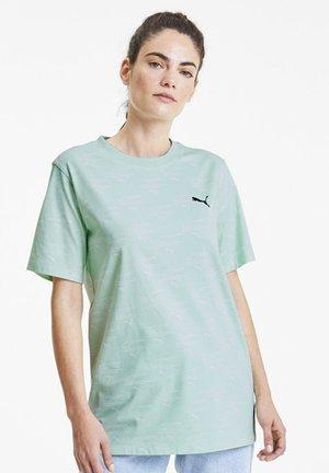 EVIDE PRINTED - Print T-shirt - mist green