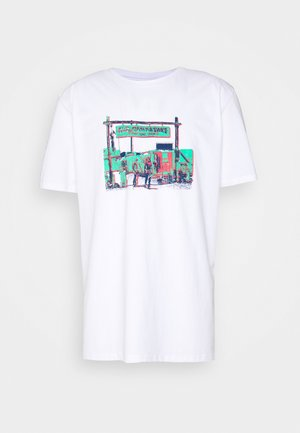 GRAPHIC PRINTED OVERSIZED - T-shirt con stampa - white