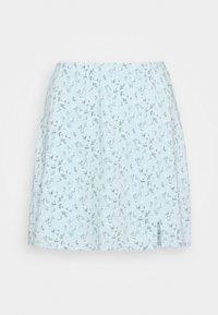 SOFT SLIT - Mini skirt - light blue