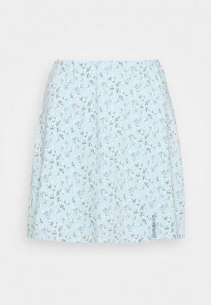 SOFT SLIT - Miniskjørt - light blue