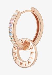 Olivia Burton - RAINBOW INTERLINK HUGGIE HOOPS - Earrings - rose gold-coloured - 4
