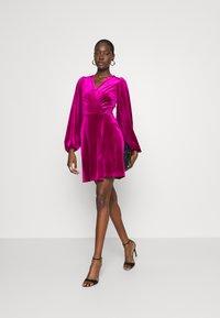 Closet - WRAP OVER MINI DRESS - Cocktail dress / Party dress - pink - 1