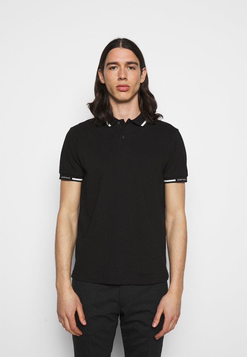 Emporio Armani - Polo shirt - black