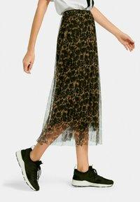 MARGITTES - A-line skirt - schwarz/multicolor - 2