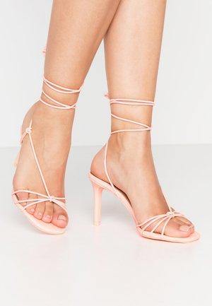 ALVERNA - Sandály na vysokém podpatku - bone