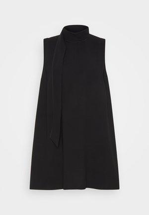 SLEEVELESS MINI SHIFT DRESS - Cocktailjurk - black