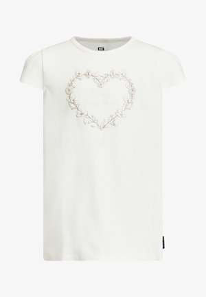 MET APPLICATIE - T-shirt z nadrukiem - white