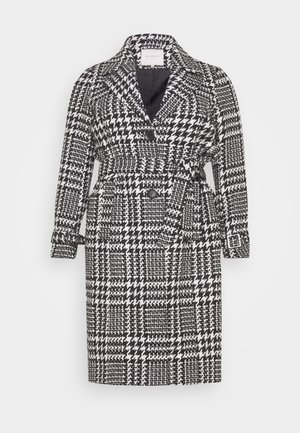 CARFANDANGA LONG COAT - Classic coat - black/white