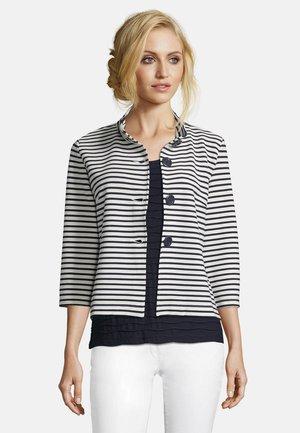 Summer jacket - dunkelblau/weiß