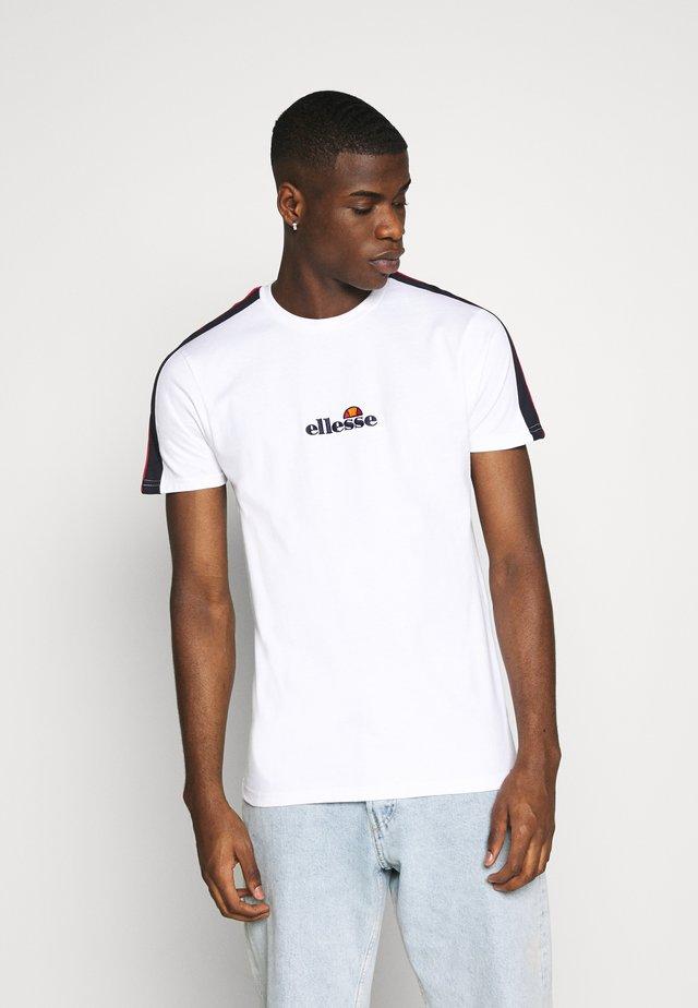 CARCANO - T-shirt z nadrukiem - white