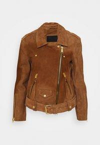 AllSaints - LUNA BIKER - Leather jacket - tan brown - 1