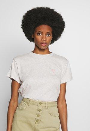 SHORT SLEEVE - T-shirts med print - oat melange