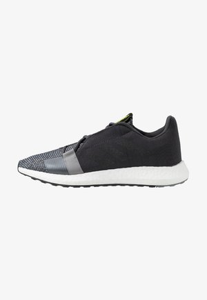 SENSEBOOST GO - Neutral running shoes - grey six/core black/solar yellow