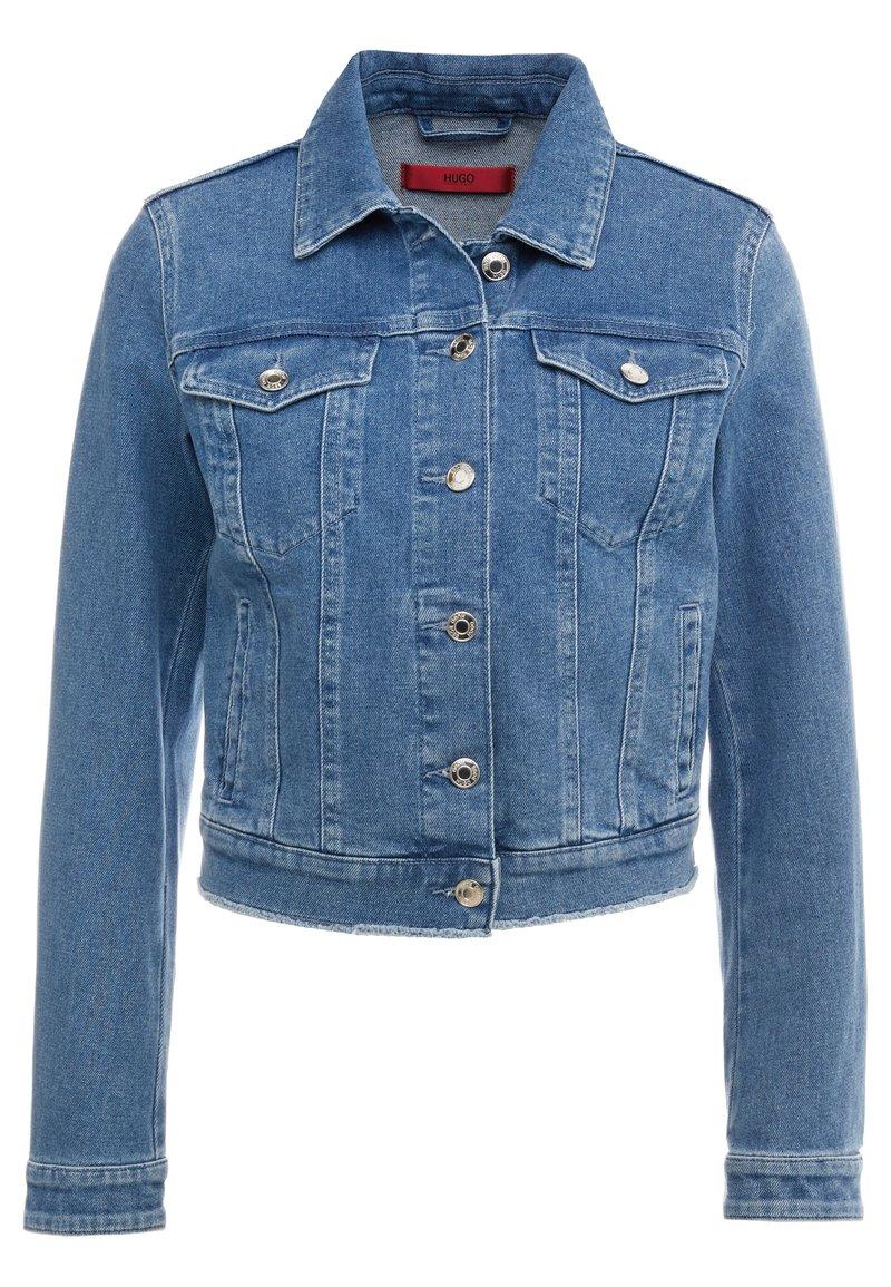 HUGO - GESSINA - Denim jacket - turquoise/aqua