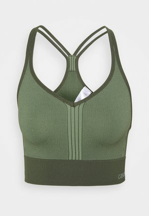 SEAMLESS  - Light support sports bra - northern green