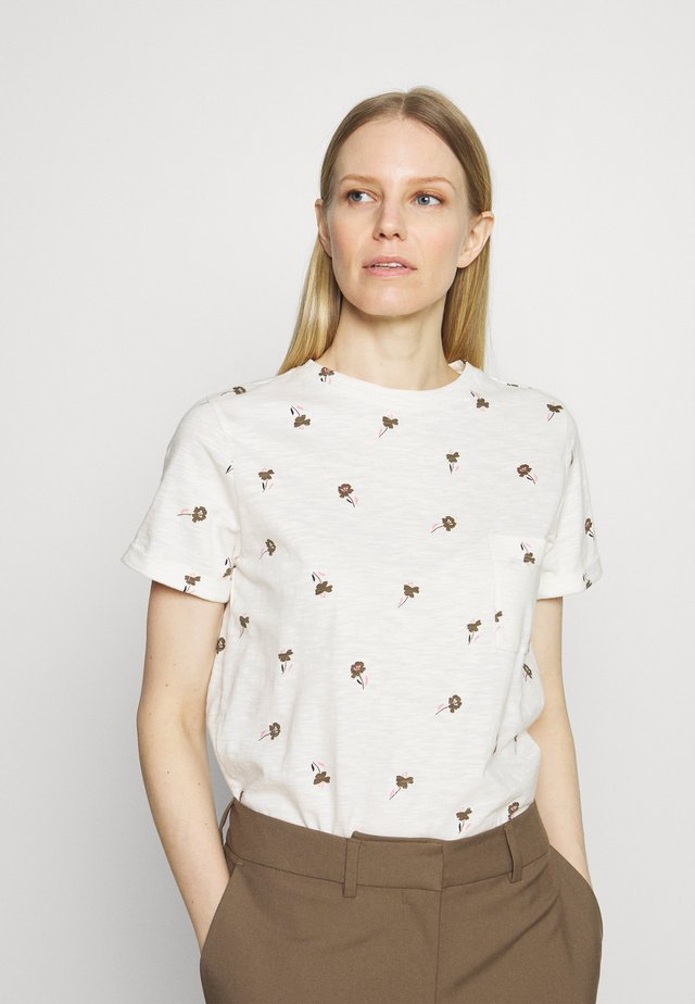 AUTH POCK TEE - T-shirt con stampa - off-white