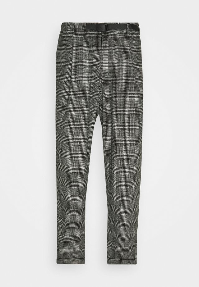 BLEND TUCK PANTS LOOSE - Chino - dark grey