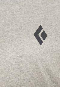 Black Diamond - LOGO SLEEVE TEE - Långärmad tröja - nickel dune heather - 2